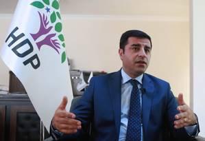 Líder curdo, Selahattin Demirtas concorreu à Presidência contra Erdogan em 2018 Foto: ADEM ALTAN / AFP