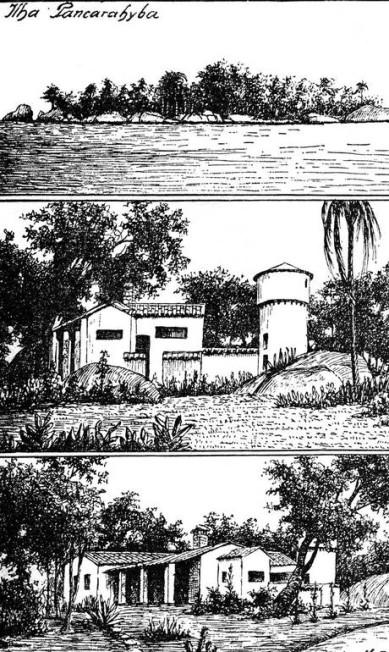 Pancaraíba, ilha sagrada para os tamoios e cheia de lendas sobre a Guanabara, atualmente abandonada no fim da Baía, cercada por lixo e esgoto Reprodução