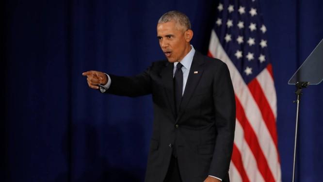 Ex-presidente, Barack Obama, faz discurso em Universidade de Illinois Foto: JOHN GRESS / REUTERS