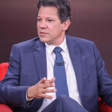 O candidato Fernando Haddad em entrevista ao canal GloboNews Foto: Ricardo Stuckert/Divulgação