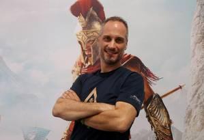 Pablo Toscano, diretor de arte do jogo Assassin's Creed Odyssey Foto: Fabiano Rocha