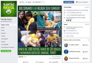 Ataque a Bolsonaro é tido como 'fake' em grande número de postagens na redes sociais Foto: Reprodução