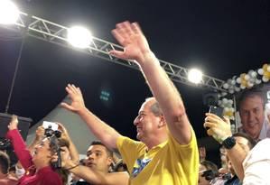 Ciro Gomes faz campanha no Ceará Foto: Divulgação