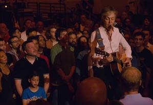 Paul McCartney em show em Nova York Foto: Reprodução