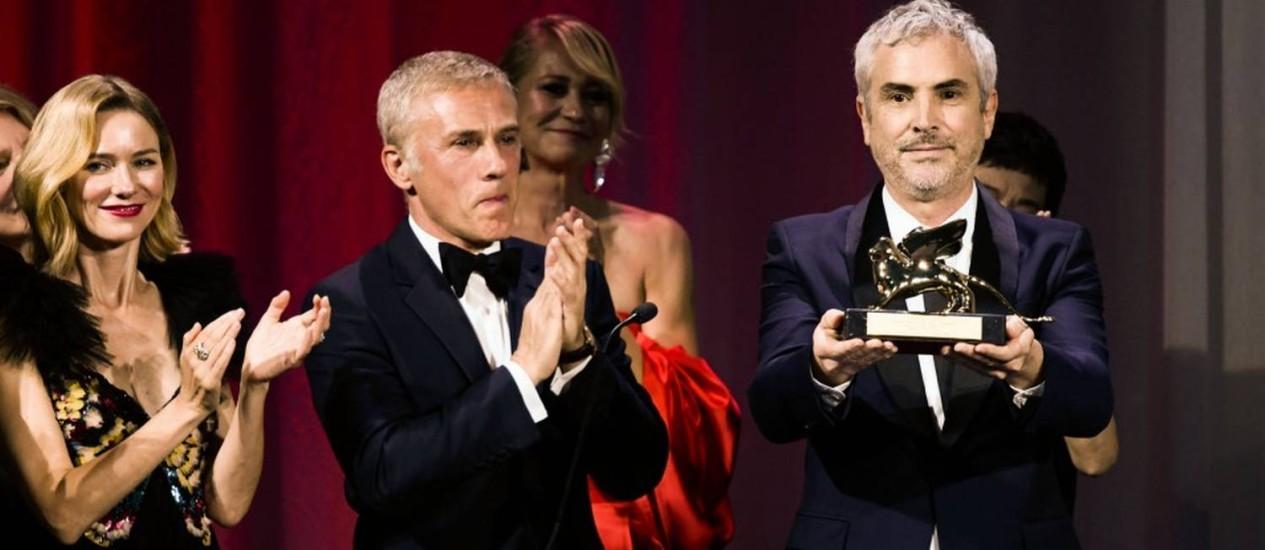 O diretor de 'Roma', Alfonso Cuaron Foto: FILIPPO MONTEFORTE / AFP