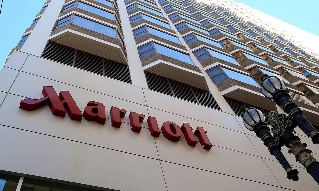 Fachada do hotel Marriott em São Francisco Foto: JUSTIN SULLIVAN / AFP