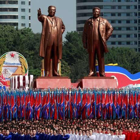 Parada militar na Coreia do Norte não teve mísseis e nem testes nucleares Foto: DANISH SIDDIQUI / REUTERS
