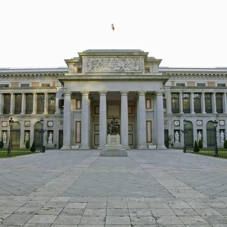 Fachada do Museu do Prado, em Madri: prédio construído sobre antigo córrego Foto: Divulgação