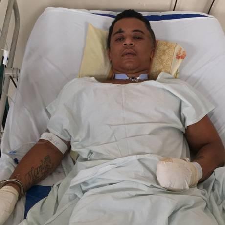 Gabriel Junior Pinto de Brito, conhecido como Verruga, foi preso enquanto estava internado no Hospital Getúlio Vargas Foto: Polícia Civil / Divulgação