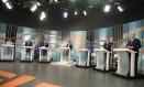 Presidenciáveis participam de debate na TV Gazeta Foto: Marcos Alves/ Agência O Globo