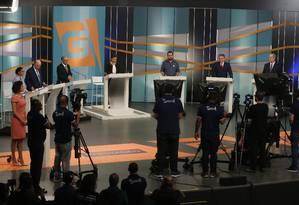 Candidatos à Presidência participam de debate da TV Gazeta/Estadão, em São Paulo Foto: Marcos Alves / Agência O Globo