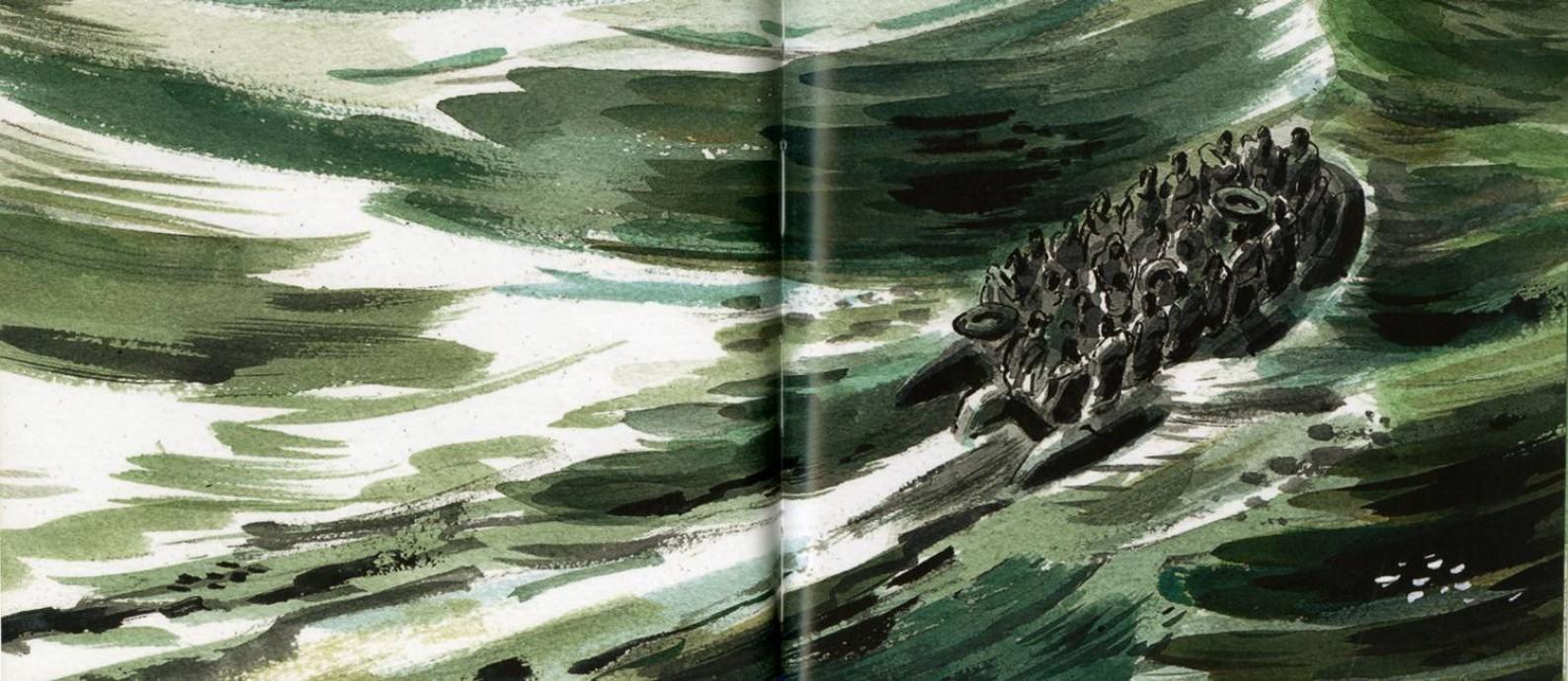Ilustração do livro 'A memória do mar', de Khaled Hosseini Foto: Dan Williams