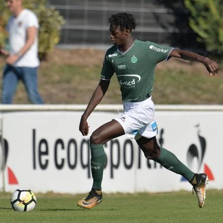 Morto aos 19 anos, William Gomis defendeu o Saint-Etienne na última temporada Foto: Saint-Etienne/Divulgação