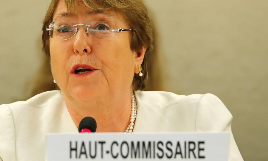 Bachelet: promessa de ser a voz das vítimas ao redor do mundo Foto: DENIS BALIBOUSE / REUTERS