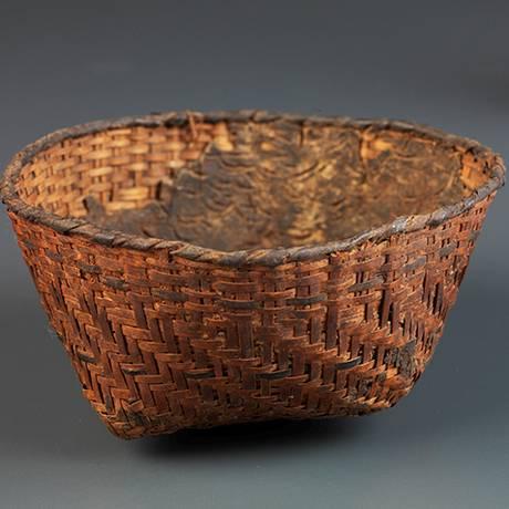 Cesto de palha de culturas pré-históricas dos sambaquis, feito há mais de 2 mil anos e perdido no incêndio Foto: Museu Nacional / Museu Nacional