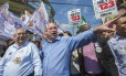 O candidato Ciro Gomes (PDT) fez campanha em Mauá, na Grande São Paulo