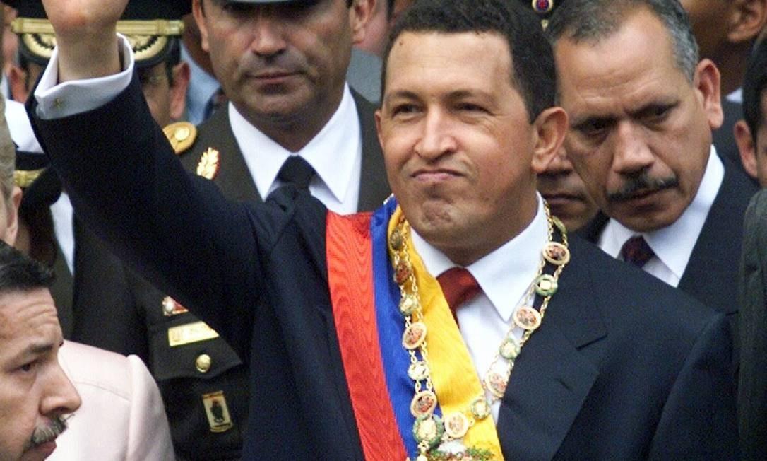 O presidente venezuelano Hugo Cháves, que morreu em 2013: antigas autoridades do regime foram para a Espanha, onde aplicaram as propinas milionárias que receberam Foto: Kimberly White / Reuters