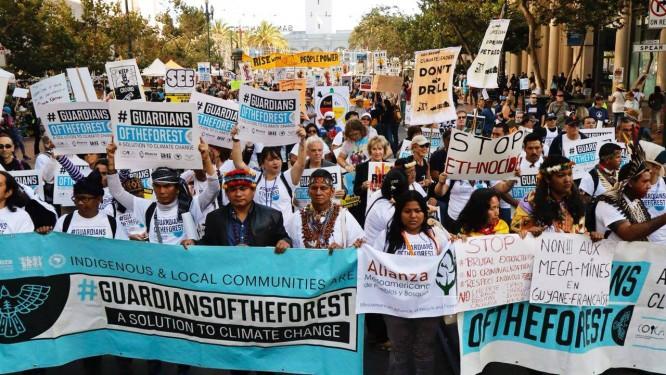 Grupo que reúne indígenas de 14 países reivindicou demarcação de territórios Foto: Divulgação