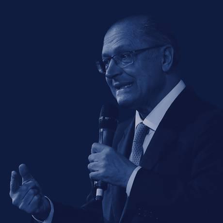 O candidato do PSDB à Presidência, Geraldo Alckmin Foto: Editoria de Arte