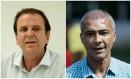 Eduardo Paes e Romário Foto: Agência O Globo