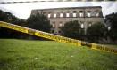 Área de isolamento nos fundos do museu Foto: Márcia Foletto / Agência O Globo