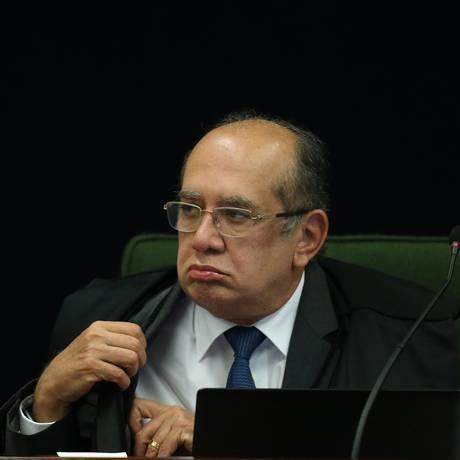 O ministro Gilmar Mendes, durante sessão da Segunda Turma Foto: Ailton de Freitas/Agência O Globo/04-09-2018