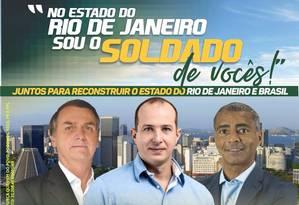 Santinho virtual compartilhado por Delaroli Foto: Reprodução