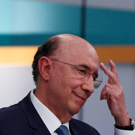 O candidato à Presidência do MDB, Henrique Meirelles, durante debate Foto: Miguel Schincariol / AFP