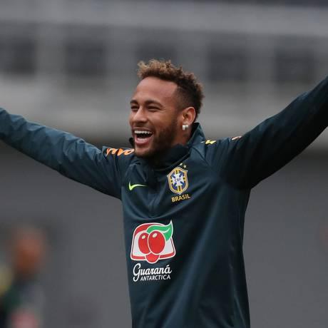 Neymar durante treino da seleção em Washington Foto: Lucas Figueiredo / Divulgação CBF