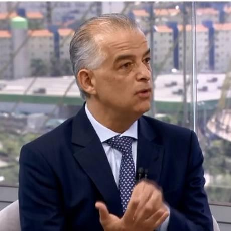 Candidato do PSB ao governo do estado de São Paulo foi o primeiro na série de entrevistas do SP1 Foto: Reprodução/TV Globo