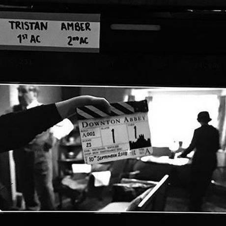 Bastidores da gravação do filme 'Downton abbey' Foto: Reprodução Instagram