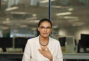 Marina Silva (Rede) é sabatinada no Jornal O Globo Foto: Márcia Foletto / Agência O Globo