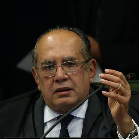 O ministro Gilmar Mendes, durante sessão da Segunda Turma do STF Foto: Ailton de Freitas / Agência O Globo