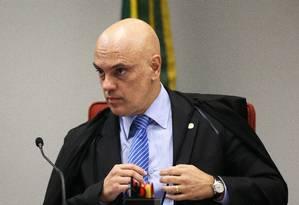O ministro Alexandre de Moraes, durante sessão da Primeira Turma do STF Foto: Ailton de Freitas / Agência O Globo