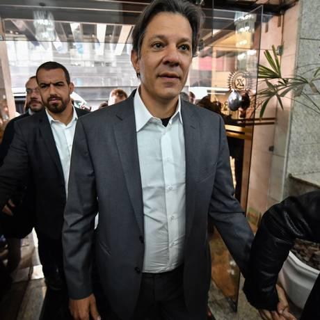 O candidato à Presidência do PT, Fernando Haddad, em Curitiba, onde sua candidatura foi anunciada Foto: Nelson Almeida / AFP