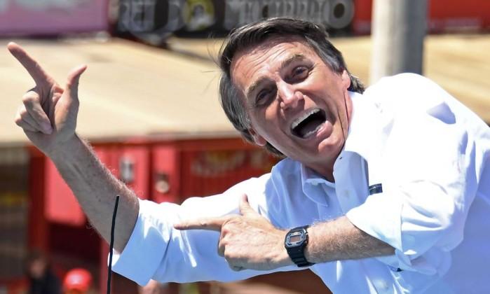 O candidato Jair Bolsonaro Foto: Evaristo Sá / AFP