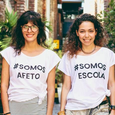 Danielle Vargas e Flora Setta, da Afeto Escola Foto: Divulgação