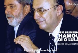 Propaganda de Meirelles utiliza foto do candidato ao lado do ex-presidente Lula Foto: Reprodução