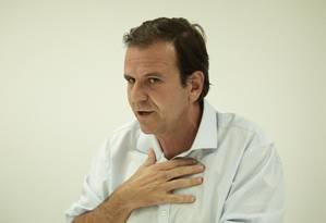 O candidato do DEM ao governo do Estado do Rio, Eduardo Paes 10/09/2018 Foto: Leo Martins / Agência O Globo