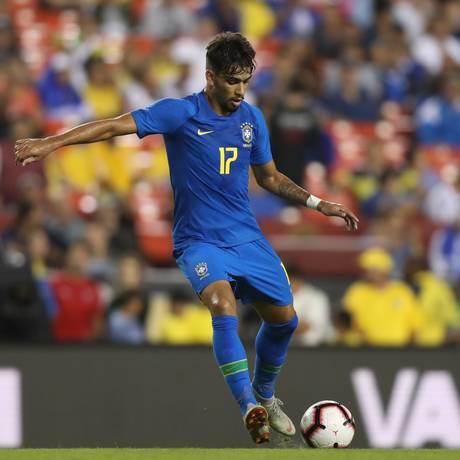 Lucas Paquetá em ação pela seleção brasileira Foto: Lucas Figueiredo/CBF