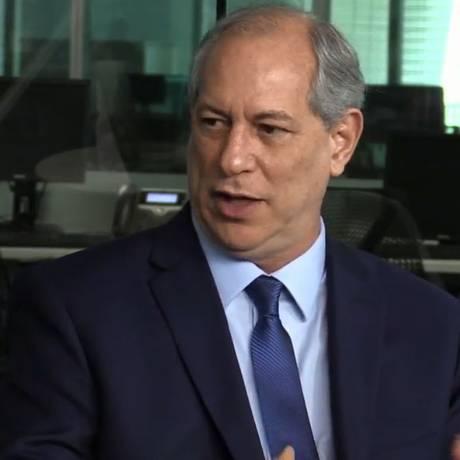 Ciro Gomes em sabatina promovida por ÉPOCA, O Globo e Valor Econômico Foto: Reprodução