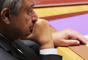 Antonio Guterres, secretário-geral da ONU: relatório denuncia repressão a trabalhadores de direitos humanos Foto: ANDREW KELLY / REUTERS