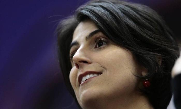 Manuela D'Ávila, candidata a vice na chapa encabeçada por Haddad Foto: Jorge William / O Globo