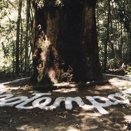 """""""O tempo não passa"""". A frase de """"Aion"""" estava coberta por terra Foto: Divulgação/Anderson Ribeiro"""