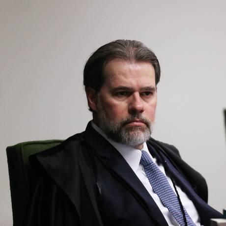 O ministro Dias Toffoli, durante sessão da Segunda Turma Foto: Ailton de Freitas/Agência O Globo/11-09-2018
