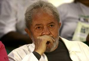 O ex-presidente Lula participa de congresso de catadores. em Brasília Foto: Jorge William/Agência O Globo/13-12-2017