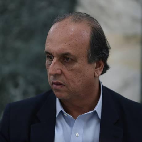 O governador do Rio, Luiz Fernando Pezão Foto: Pedro Teixeira / Agência O Globo
