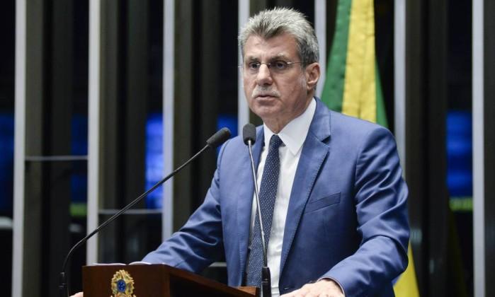 O senador Romero Jucá (PMDB-RR) Foto: Jefferson Rudy / Agência O Globo