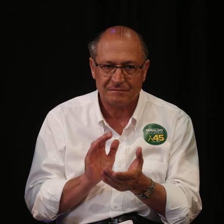 Geraldo Alckmin candidato pelo PSDB a presidencia participa de encontro com artistas foto / agencia O Globo Foto: Marcos Alves / Agência O Globo
