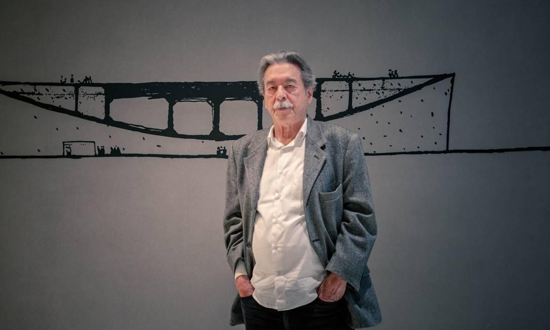 Paulo Mendes da Rocha na 'Ocupação' em sua homenagem, no Itaú Cultural, em São Paulo Foto: André Seiti / Divulgação